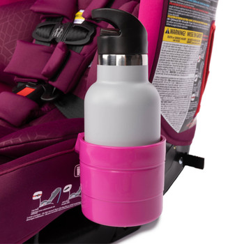 Diono Car Seat Cup Holders in use with with bottle [Purple Plum]