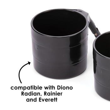 Diono Car Seat Cup Holders - Compatible with Diono Radian, Rainier and Everett [Black]