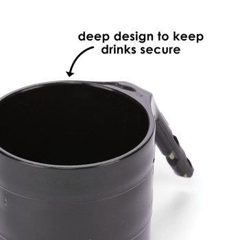 Diono Car Seat Cup Holders - Deep design to keep drinks secure [Black]