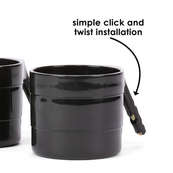 Diono Car Seat Cup Holders - Simple click and twist installation [Black]