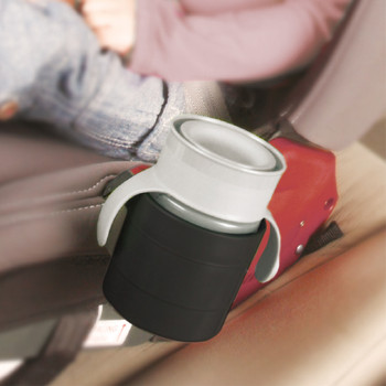Diono Car Seat Cup Holders in use with with cup [Black]
