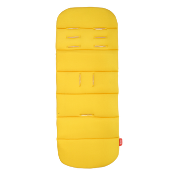 Baby Seat Liner For Stroller, Cool Reversible Stroller Seat Liner With Plush Cushioned Padding, 100% Water Resistant Liner [Yellow Sulphur]