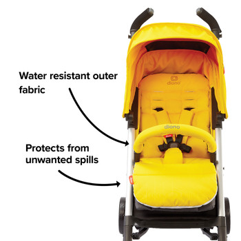 Water resistant outer fabric protects from any unwanted spills  [Yellow Sulphur]