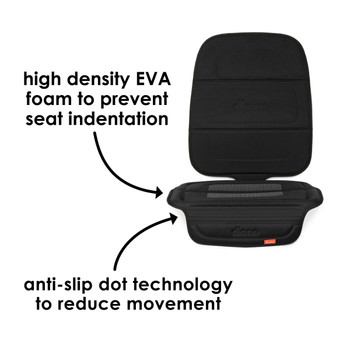 Diono Seat Guard Complete  -  High density foam to reduce indentation, anti-slip dot technology to reduce seat movement [Black]