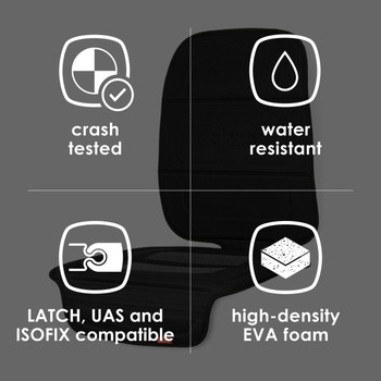 Diono Seat Guard Complete  - Features:  Crashed Tested, Water Resistant, LATCH, UAS and ISOFIX Compatible, High Density EVA foam