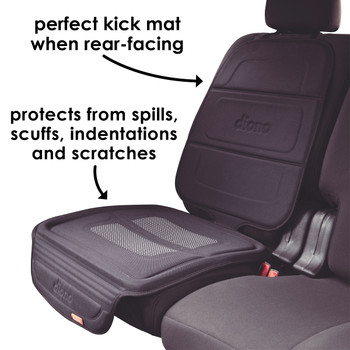 Diono Seat Guard Complete - Perfect kick-mat when rear facing,  protects from spills, scuffs, indentations and scratches [Black]