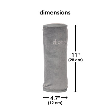 Diono Seat Belt Pillow for Kids, Super Soft Car Seat Belt Cover Travel Pillow for Head, Neck, Shoulder in Car, Universal Fit [Gray]