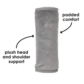 Diono Seat Belt Pillow has padded comfort and a plush head and shoulder support [Gray]