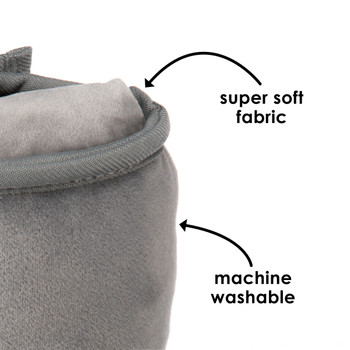 Diono Seat Belt Pillow with super soft fabric and machine washable [Gray]