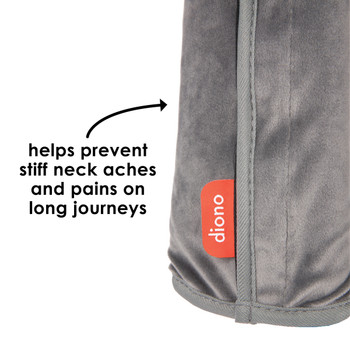 Diono Seat Belt Pillow helps prevent stiff neck aches and pains on long journeys [Gray]
