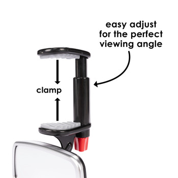Diono See Me Too Mirror - Easy adjust for the perfect viewing angle [Silver]