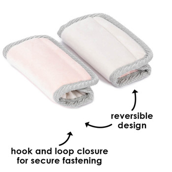 Diono Car Seat Straps hook and loop closure for secure fastening and have reversible design [Pink]
