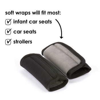Diono car seat straps can fit most infant car seats, car seats and strollers [Black]