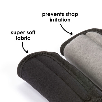 Diono Car Seat Straps are made from super soft fabric which prevents strap irritation [Black]