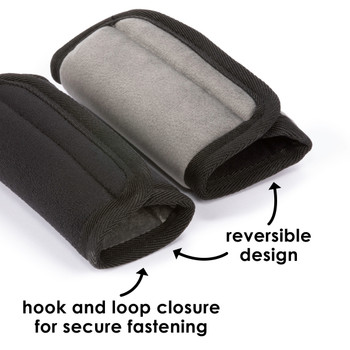 Diono Car Seat Straps hook and loop closure for secure fastening and have reversible design [Black]