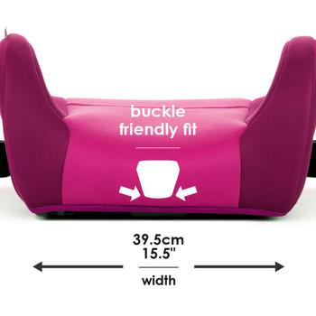Buckle friendly fit 39.5 cm / 15.5 in width [Pink]