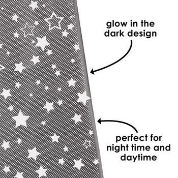 Diono Starry Night Car Window Shade with glow in the dark design, perfect for night time and daytime [Black]
