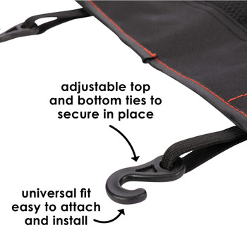 Diono Stow 'n Go Car Back Seat Organiser  adjustable top and bottom ties to secure in place and universal fit easy to attach and install [Black]