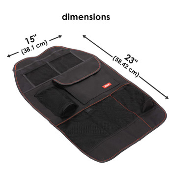 Diono Stow 'n Go Car Back Seat Organiser with durable oxford fabric, dual layer water resistant protection and easy to wipe clean [Black]