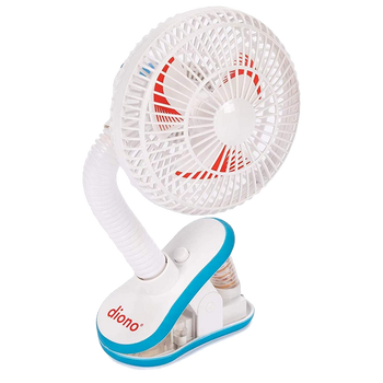 Diono Stroller Fan, Clip On Baby Safe Stroller Fan With Flexible Neck For Perfect Angle, Unviersal Fit With Most Strollers