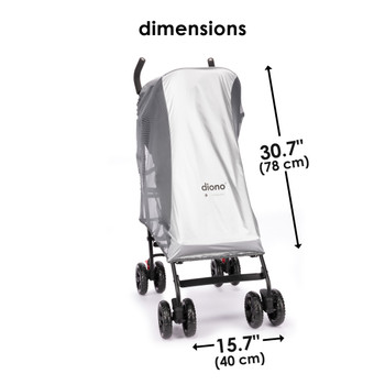 Stroller Sun Shade & Mosquito Net For Stroller, Heatblock Sun Protection, Perfect Bug Net For Stroller With Universal Fit Dimensions