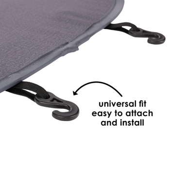 Diono Stuff 'n Scuff XL Kick Mat universal fit easy to attach and install [Gray]