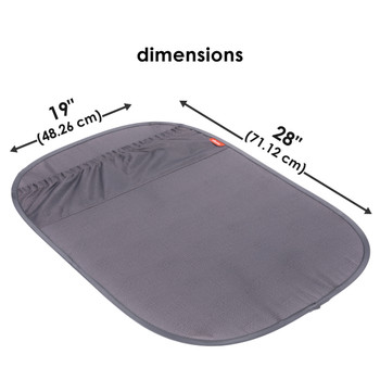 Diono Stuff 'n Scuff XL Kick Mat Back Seat Protector for Kids Feet With Storage Pocket, 100% Water Resistant for Protection of Your Upholstery from Dirt, Mud, Scratches [Gray]