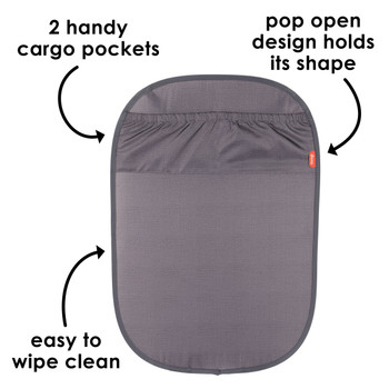 2 handy  cargo pockets, pop open design holds its shape and easy to wipe clean [Gray]