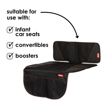 Diono Super Mat Car Seat Protector - compatible with: infant car seats, convertibles and boosters [Black] [Gray]