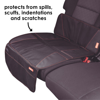Diono Super Mat Car Seat Protector - Protects from spills, scuffs, indentations, and scratches [Black] [Gray]
