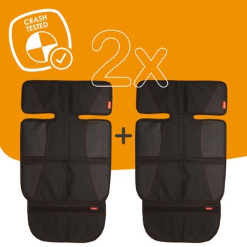 Super Mat 2 Pack Car Seat Protectors For Under Car Seat is crash tested [Black]