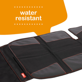 Super Mat 2 Pack Car Seat Protectors For Under Car Seat is water resistant [Black]