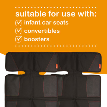 Super Mat 2 Pack Car Seat Protectors For Under Car Seat is suitable for use with; infant car seats, convertibles and boosters [Black]
