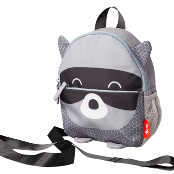 Character Kids Mini Back Pack Toddler Leash & Harness for Child Safety, With Padded Shoulder Straps For Child Comfort [Raccoon]