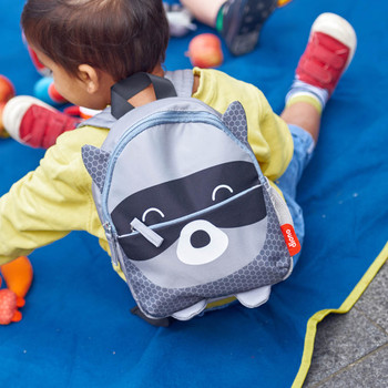 Character Kids Mini Back Pack Toddler Leash & Harness for Child Safety, With Padded Shoulder Straps For Child Comfort Shown On Toddler [Racoon]
