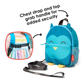 Chest strap and top grab handle for added security [Owl]