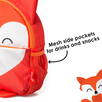 Mesh side pockets for drinks and snacks [Fox]