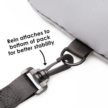 Rein attaches to the bottom of the back pack for better stability [Raccoon]
