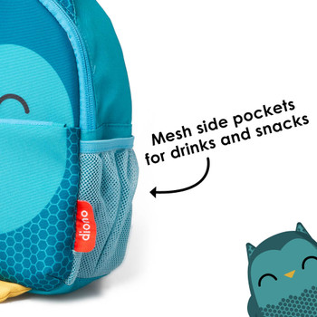 Mesh side pockets for drinks and snacks [Owl]