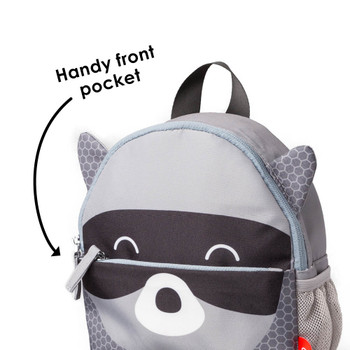 Handy front zippered pocket to store valuables [Raccoon]