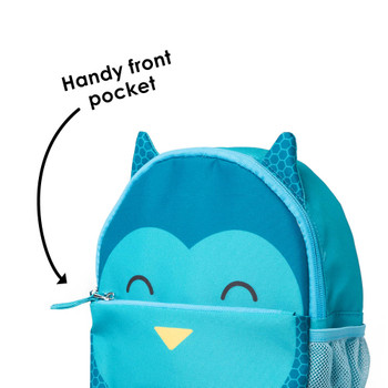 Handy front zippered pocket to store valuables [Owl]