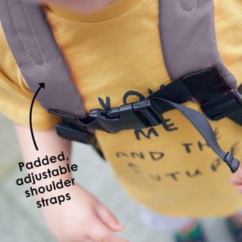 Padded adjustable shoulder straps [Raccoon]
