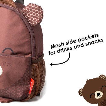 Mesh side pockets for drinks and snacks [Bear]