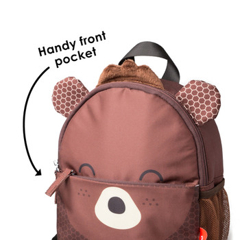 Handy front zippered pocket to store valuables [Bear]
