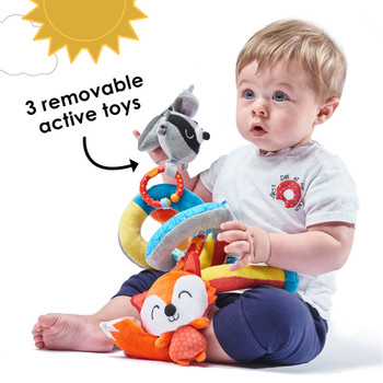 Includes 3 removable active toys