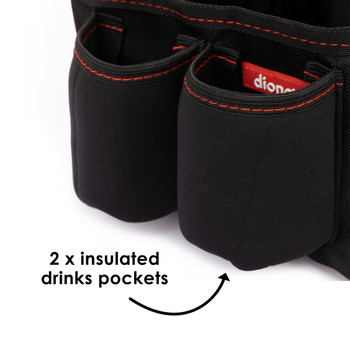 Diono Travel Pal Back Seat Car Organiser with 2 x insulated drinks pockets [Black]