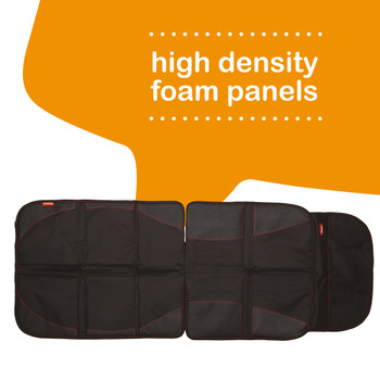Diono Ultra Mat Pack of 2 Full Size Car Seat Protectors For Under Car Seat has high density foam panels [Black]