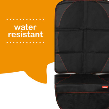 Diono Ultra Mat Pack of 2 Full Size Car Seat Protectors For Under Car Seat is water resistant [Black]