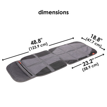 Diono Ultra Mat® Deluxe - Dimensions [Gray]
