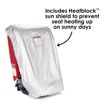 Diono Ultra Mat® Deluxe - Includes Heatblock Sun Shield to prevent seat heating up on sunny days [Gray]